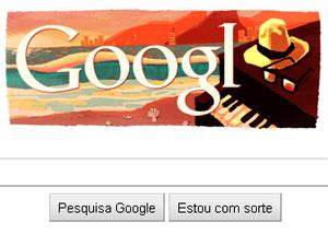 Logo do Google em homenagem a Tom Jobim