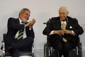 José Alencar e Lula em evento na sede da Prefeitura de São Paulo