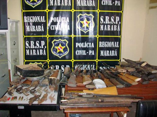 Armas apreendidas em fábrica clandestina