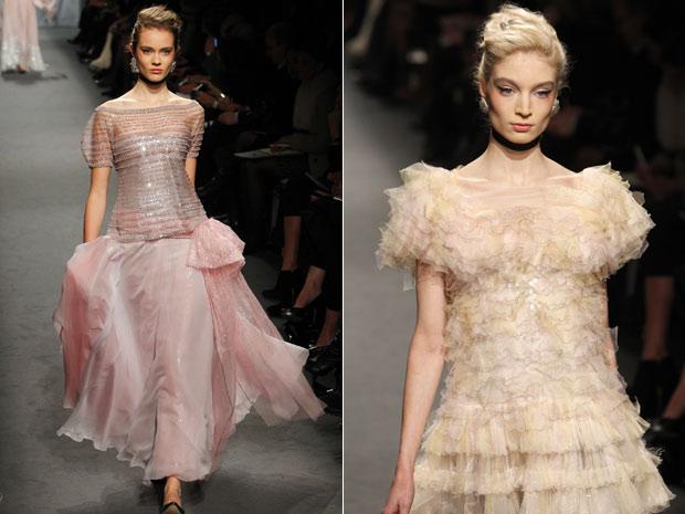 Novos looks da Chanel exibidos durante desfile em Paris