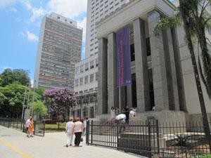 Fachada da Biblioteca Mário de Andrade (Foto: Fabiano Correia/G1)