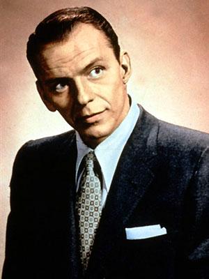 O cantor Frank Sinatra nos anos 50
