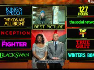 Frame de indicações de Oscar de melhor filme