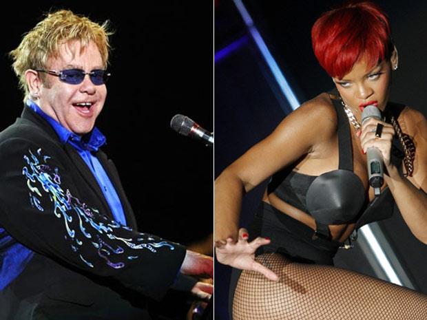 Elton John e Rihanna, outras duas atrações confirmadas para abertura do Rock in Rio (Foto: AP)