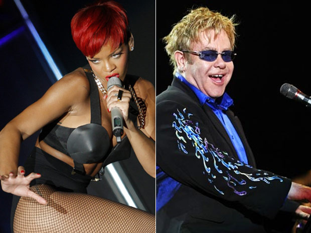 Rihanna e Elton John, outras duas atra&#231;&#245;es confirmadas para abertura do Rock in Rio (Foto: AP)
