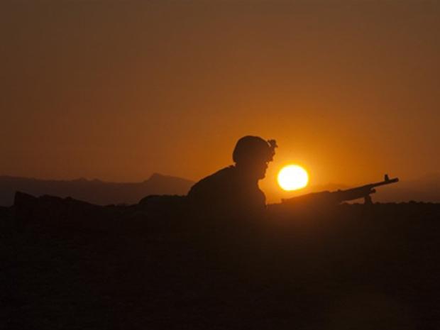 Soldado das forças ocidentais durante missão na província afegã de Helmand, em 2 de janeiro