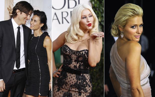 Ashton Kutcher, Demi Moore, Christina Aguilera e Paris Hilton
