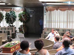 Cerimônia de cremação de John Herbert, realizada nesta quinta na Vila Alpina
