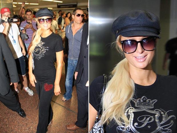 Paris Hilton desembarca em São Paulo