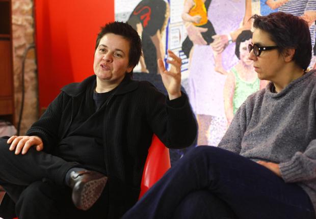 As francesas Corinne Cestino e Sophie Hasslauer em 24 de janeiro