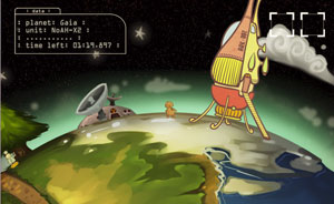 Imagem do game 'Planetary Plan C' criado por brasileiros no Global Game Jam 2011
