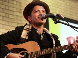 O cantor Bruno Mars