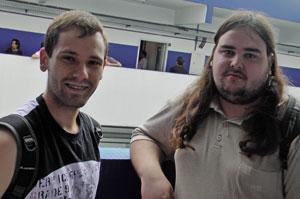 Erich Roveda e Rafael Portes foram assistir as palestras do Jogo Justo