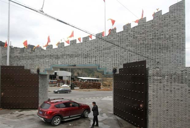 Yuhuan é agora protegida por uma muralha.