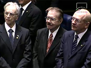 Senador José Sarney (PMDB-AP), presidindo os trabalhos da sessão de posse para a 54ª Legislatura