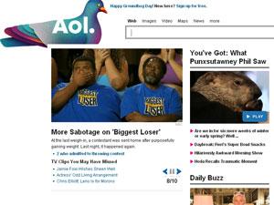 Faturamento da AOL despenca