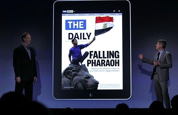 The Daily, jornal exclusivo para iPad chega aos EUA (Foto: Spencer Platt/Getty Images/AFP)