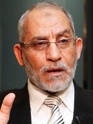 Mohammed Badie, líder do movimento Irmandade Muçulmana.
