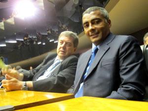 O deputado Romário na sessão de abertura do Ano Legislativo, no plenário da Câmara (Foto: Fabio Tito / G1)