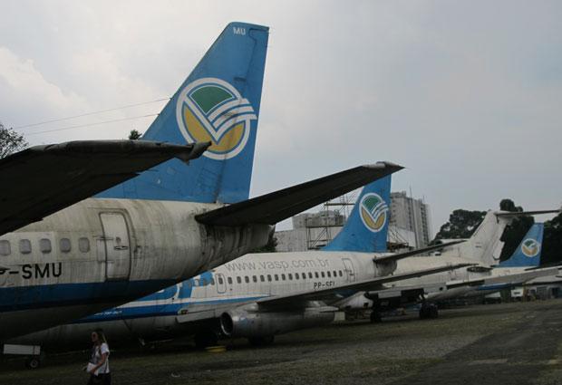 Aviões da Vasp serão desmontados e as peças leiloadas