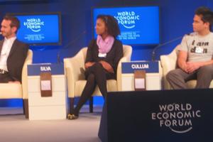 Raquel Silva participou das discussões no Fórum Econômico Mundial em Davos, na Suíça. (Foto: Arquivo pessoal)