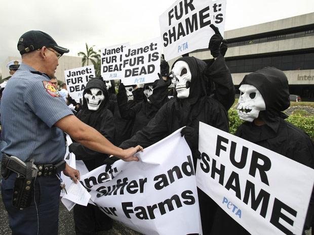 A cantora Janet Jackson foi alvo de protestos nas Filipinas, onde fez show (Foto: AP)