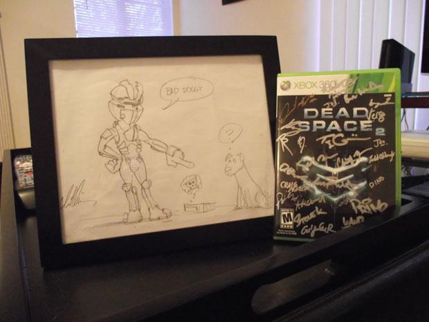 Presentes da Electronic Arts para a garota que teve o game destruído pelo cachorro (Foto: Arquivo Pessoal)