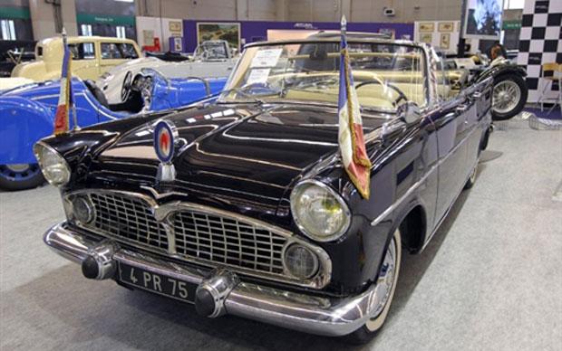 Este Simca de 1959 foi usado pelo general francês Charles de Gaulle (Foto: AFP)