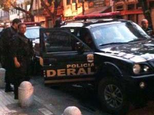 Polícia Federal - ocupação São Carlos - Rio (Foto: Thamine Leta / G1)