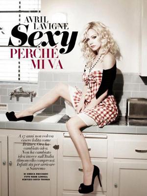 Avril Lavigne em matéria da 'Vanity Fair' italiania (Foto: Reprodução)