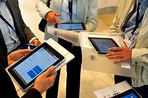 Brasileiro usou iPad em curso na Suíça (Foto: Divulgação)