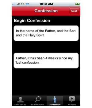 Aplicativo Confession: A Roman Catholic App (Foto: Reprodução)