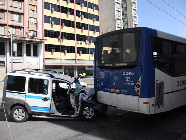 Acidente na Avenida Tiradentes (Foto: Elisa Rodrigues / Futura Press)