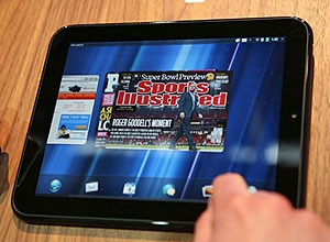 HP lança tablet TouchPad (Foto: Kimihiro Hoshino/AFP)