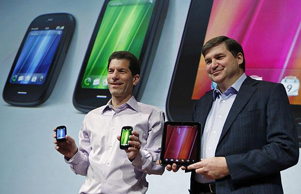 HP também anunciou dois novos smartphones, o Veer e o Pre3, baseados no sistema da Palm (Foto: AP)