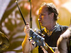 O baterista do Metallica, Lars Ulrich (Foto: Daigo Oliva/G1)