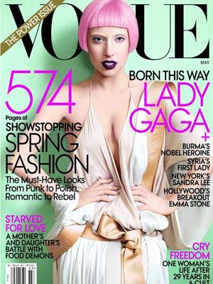 """A capa da edição americana de março da revista """"Vogue"""" (Foto: Reprodução)"""
