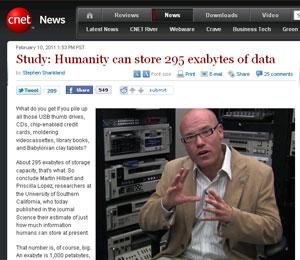 Martin Hilbert é um dos responsáveis pelo estudo que mediu a capacidade de armazenamento da humanidade. (Foto: Reprodução/CNET)
