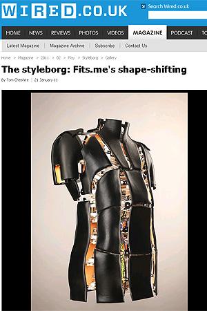 Robô que muda de forma ajuda clientes on-line a provar roupa (Foto: Reprodução/Wired)