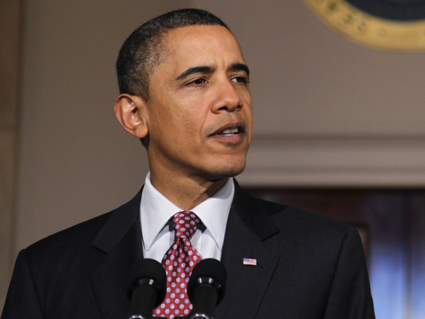 O presidente dos EUA, Barack Obama, fala sobre o Egito nesta sexta-feira (11) na Casa Branca (Foto: Reuters)