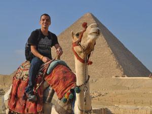 O brasileiro Rodrigo Silva, que está no Egito desde novembro (Foto: Arquivo pessoal)