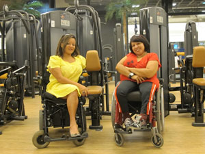 alunas cadeirantes (Foto: Juliana Cardilli/G1)