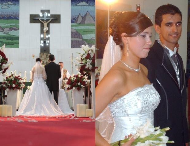 Montagem casamento da noiva sequestrada em Curitiba (Foto: Arquivo Pessoal/Glaucio Correa)