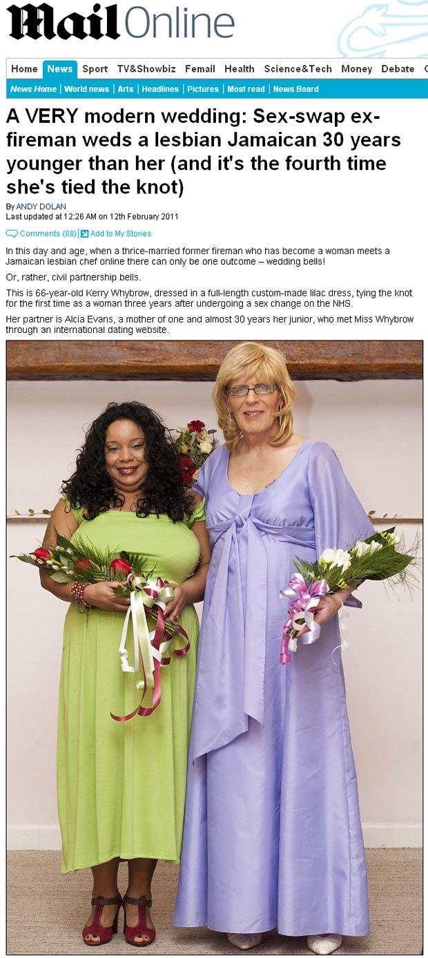 Casal Kerry Alicia 1 (Foto: Daily Mail / Reprodução)