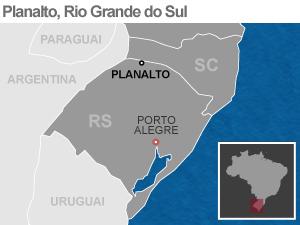 Mapa de localização de Planalto (RS) (Foto: Editoria de Arte/G1)