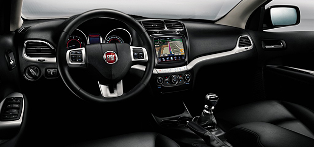 auto esporte fiat divulga imagens do interior do suv. Black Bedroom Furniture Sets. Home Design Ideas
