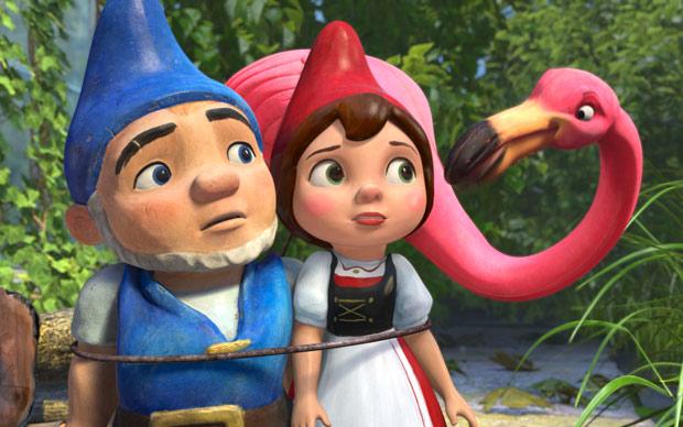 Cena da animação 'Gnomeu & Julieta', dublada por James McAvoy e Emily Blunt (Foto: Divulgação)