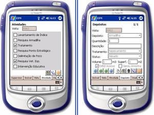 Interface dos palmtops usados pelos supervisores do Webdengue (Foto: Divulgação / COPPE-UFRJ)