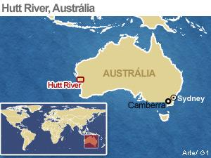 Mapa localiza Hutt River (Foto: Arte G1)