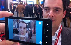 Laurent Gil, fundador do Viewdle,  identificado pela tecnologia que criou (Foto: Leopoldo Godoy/G1)